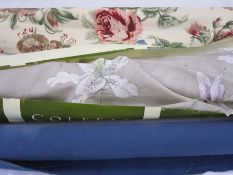 Curtain and furnishing material -long roll of Colefax & Fowler, lilies on a grey ground, a length of