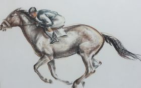 John Skeaping (20th century) Pastel study - AMENDMENT - THIS IS A SIGNED PRINT Racing horse and