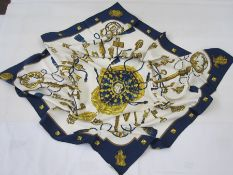 Hermes silk scarf'Les Cles', hand-rolled hem 1965, designer Cathy Latham], 90cm x 90cmCondition