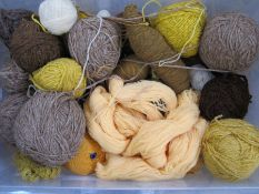 Three large containers of knitting wool and yarn, various colours, etc (3) Condition ReportPlease