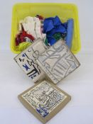 Quantity of vintage scarves, pashmina, St Ives, two in original boxes, etc (1 box)