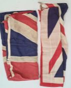 Two Union Jack flags (2)Condition ReportApprox 87.5 x 180 cm and 132 x 195 cm