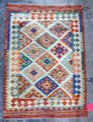 Vegetable dye wool chobi kelim, 111cm x 80cm
