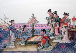 Box of assorted printsincluding modern print of Japanese tea ceremony, etc Condition ReportMain