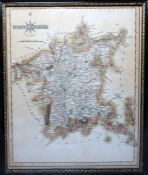 Reproduction map of Worcestershire, a further map of Worcestershireandtwo watercolours (4)
