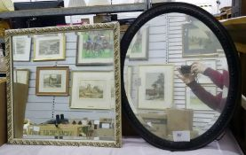 Oval mirror and a picture frame (2)