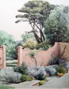 """Robert Tozer Watercolour """"Glorious June in Sidmouth"""", signed lower left, 30 x 26cm"""
