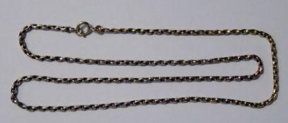 9ct gold belcher chain-link necklace, 8g