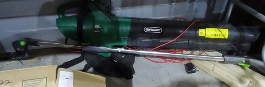 Qualcast electric blower/vacand a GTech rechargeable long reach hedge trimmer