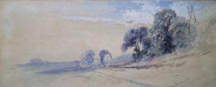 Thomas Charles Leeson Rowbottom Watercolour Pelham Wood, Isle of Wight, signed lower right, 18 x