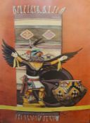 Collection of various modern colour picturesmost of native American theme, including many