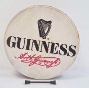 Walton's Irish 'Guinness' bodhran drum, 30cm diameter