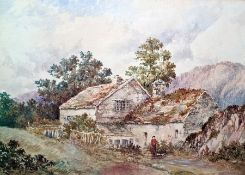 """Attributed to Andrew Deakin Watercolour """"Ron-g-Gryclan, indistinctly signed lower left, 21.5 x 31cm"""