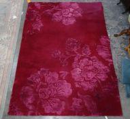 Modern pink rug, 172cm x 243cm