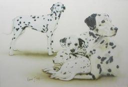 Two boxes of assorted printsincluding Dalmatian studies