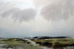 Gough Watercolour Landscape with cows Colin Radcliffe Watercolour Landscsape, signed lower
