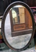 One oval framed mirror(1)