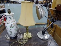 Three modern table lamps of various designs