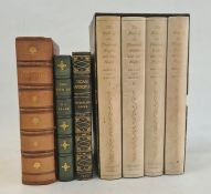 """Fine bindingsto include folio society """"The Book of The Thousand Nights"""", 4 vols, patterned"""