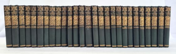 """Scott, Sir Walter """"The Waverley Novels, The Melrose Edition"""", The Caxton Publishing Company, green"""