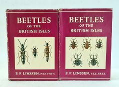"""Linssen, E F """"Beetles of the British Isles - """", Frederick Warne & Co 1959, 2 vols, First and"""