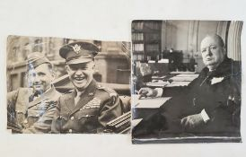 A Cecil Beaton photograph of Winston Churchill, unframed, stamped to reverse and a photograph of