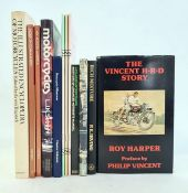 """Motorcycling interestto include:- Harper, Roy """"The Vincent, H R D Story"""", The Vincent Publishing"""