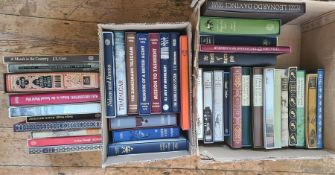 """Folio society Two boxes of assorted volumes to include Siegfried Sassoon """"Memoirs of an Inventory"""