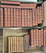 """Antiquarian fine bindings Thackeray, William Makepeace """"The Works of ...""""in 26 vols, Smith"""