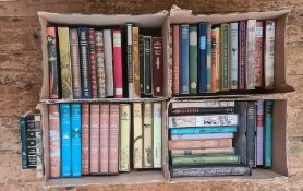 """Folio society Four boxes to include Patrick Leigh Fermor """"Between the Woods and the Water"""","""