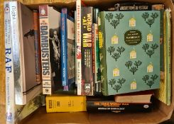 Assorted books on various subjectsto include the RAF, Wisden 1980, Formula One racing, Christopher,