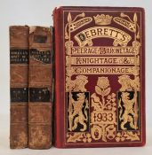 """""""Debretts Peerage, Baronage, Knightage and Companage 1933"""", red pictorial cloth, heavily decorated"""