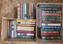 Folio societyto include Mark Twain, Laurie Lee, DeFoe, Fanny Burney, etc (3 boxes) please note