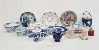Collection of decorative and Oriental blue and white pottery and chinaviz. plates, bowls, tureen