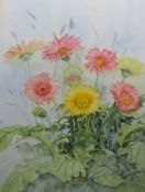 Maureen Radcliffe (20th century) Watercolour Still life study of flowers, signed and dated 1992