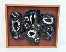 Witold Stefan (possibly Zaczenuik 1918-1999) triple ceramic sculpture, circa 1960's/70's, each