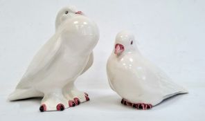 Pair of Casa Pupo pottery white glazed birds(2) Condition ReportNo obvious damage. See additional