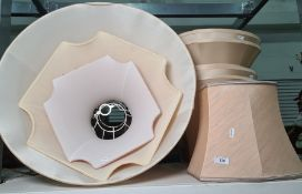 Various lampshades of various sizes (7)