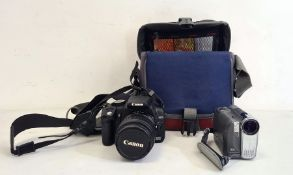 Canon 350D digital camerawith EFS 18-55mm lens and a Canon video camera MVX450(2) Condition
