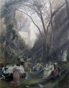 After Calvet Five framed prints Billingsgate, St Paul's, Southwark, view from Richmond Hill,