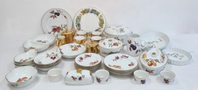 Large collection of Royal Worcester porcelain oven to table ware, primarily 'Evesham' pattern and