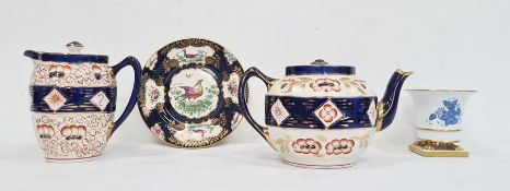 Early 20th century Herend hand-painted porcelain vasedecorated with blue floral sprays on a white