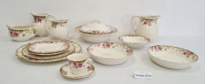 Royal Doulton pottery part tea and dinner service'English Rose' pattern, no.D6071, comprising two