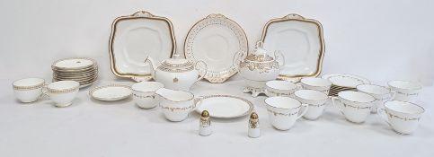 Royal Worcester part tea servicewith gilt border on white glazed ground anda Minton part tea