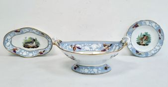 Two 19th century Spode Ornithologicalporcelain plates in Red Start and Goosander, circa 1820,