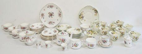 Minton bone china tea setcomprising teapot, teacups and saucers, sugar bowl, milk jug, cake plates,