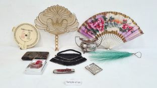 1920's silver two-handled sugar bowlon splayed feet, Sheffield 1921, makers JE&S,a quantity of