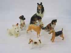 Western German model of a collie, a Coppercraft modelof a bulldog, a modelof a terrier and other