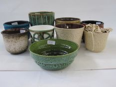 Quantity of ceramic plantersto include Poole, Eastgate Pottery, West German (9)
