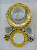Villeroy and Boch 'Switch 1' service viz: 6 dinner plates, six side plates, six soup bowls, two